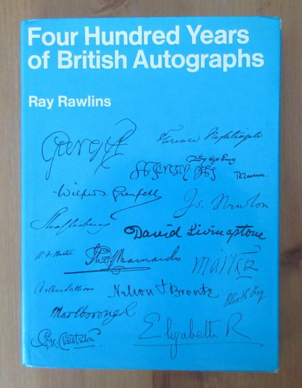 reference book BRITISH AUTOGRAPHS ray rawlins autograph signature signed