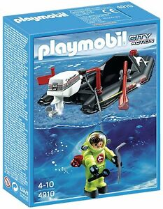 Playmobil 4910 Dinghy with Diver Limited Edition Boxed New