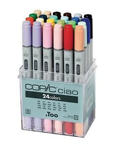 24 set of copic markers unused