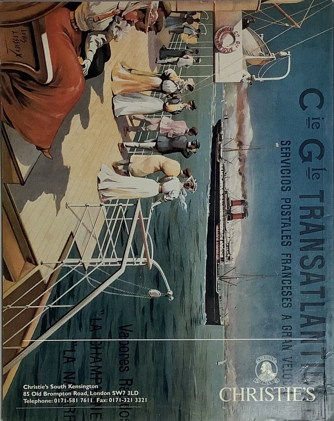 Original Christies Vintage Posters Auction Catalog May 1996