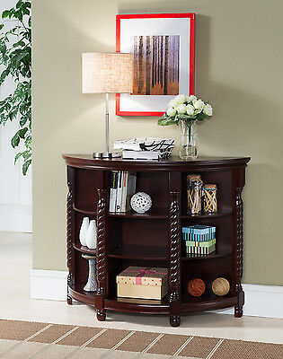 تربيزه جديد Kings Brand Furniture Cherry Finish Wood Entryway Buffet Console Sofa Table ~NEW