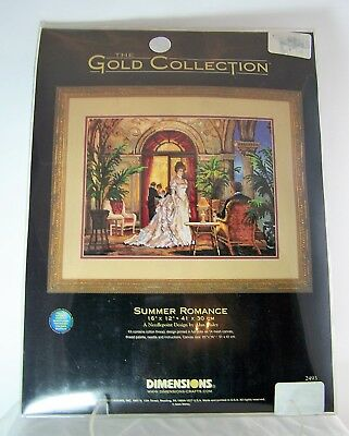 Dimensions GOLD COLLECTION Needlepoint Kit #2493 SUMMER ROMANCE by Alan Maley (Gold Needlepoint Kit)