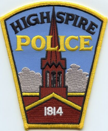 HIGHSPIRE PENNSYLVANIA PA POLICE PATCH