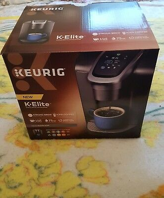 Keurig K-Elite Single-Serve K-Cup Pod Coffee Maker In Brushed Slate