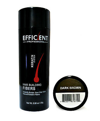 EFFICIENT  Hair Building Fiber 28g Dark Brown , Instant Hair Thickening Fibers for sale  Shipping to India