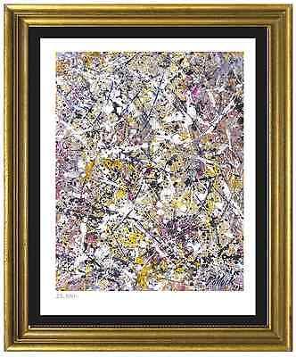 "Jackson Pollock Signed/Hand-Numbered Ltd Ed ""Number 1"" Litho Print (unframed)"