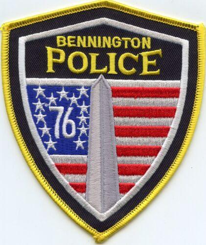BENNINGTON VERMONT VT colorful POLICE PATCH