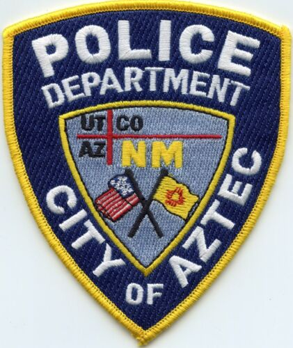AZTEC NEW MEXICO NM State Flag POLICE PATCH