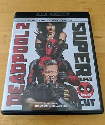 Deadpool 2 Super Duper Cut (4K Ultra HD + Blu-ray 2018) No Digital. 4 Disc Set.