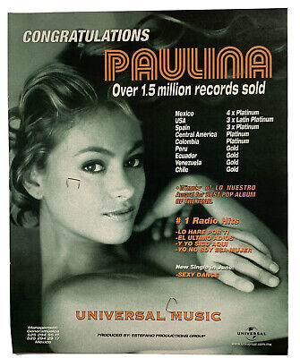 **PAULINA RUBIO VINTAGE USA BILLBOARD MAGAZINE PROMOTIONAL PRINT ADVERT**