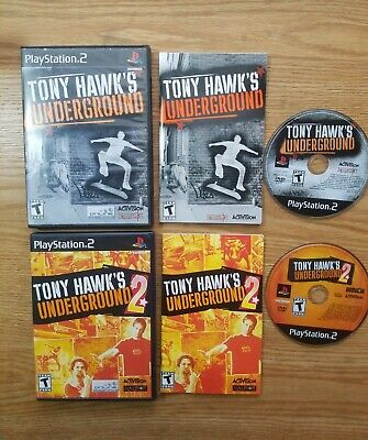 Tony Hawk's Underground 1 AND 2 (Both Complete) PS2