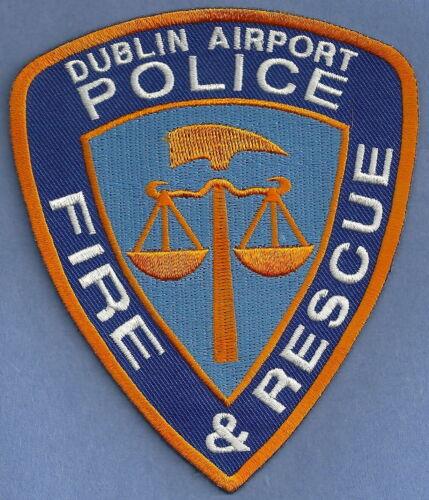 DUBLIN IRELAND INTERNATIONAL AIRPORT FIRE DEPARTMENT ARFF POLICE SHOULDER PATCH