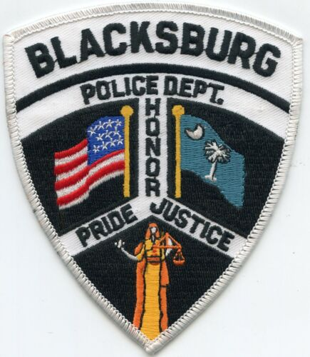 BLACKSBURG SOUTH CAROLINA SC Honor Pride Justice POLICE PATCH