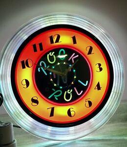 "Clockart ""Rock'n'Roll "" neon light"