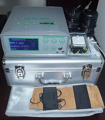 DETOX MACHINE CELL ION IONIC AQUA FOOT BATH SPA CLEANSE FIR BELT ACUPUNCTURE