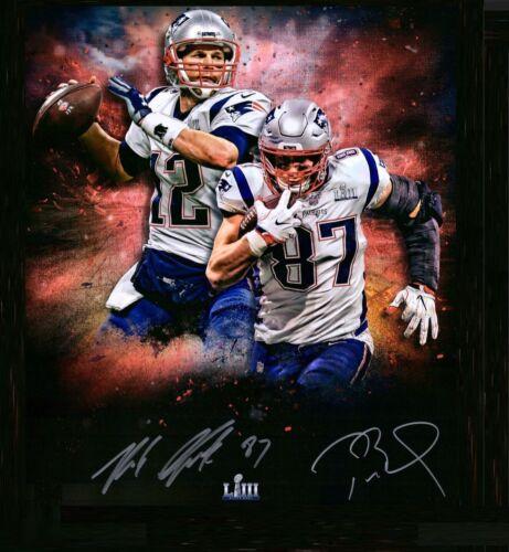 Tom Brady / Rob Gronkowski Autographed Signed 8x10 Photo ( Patriots ) Reprint