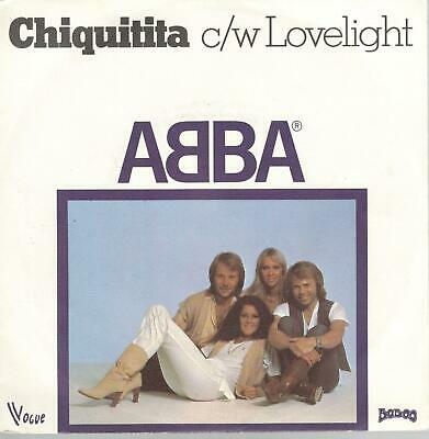 ABBA: Chiquitita / Lovelight, 7 in French Pressing Record w/ Photo Sleeve