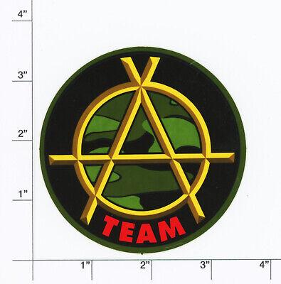 A Team Skateboards Anarchy logo vintage skateboard sticker NOS Daewon Rodney