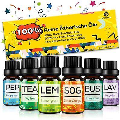Set de Aceites Esenciales para Difusor,100% Natural Puro (Aceites Esencials)