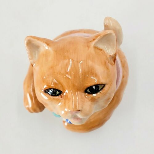 Kevin Francis Face Pot Cat Miss Luciano. Signed. Pre-owned. - $34.99