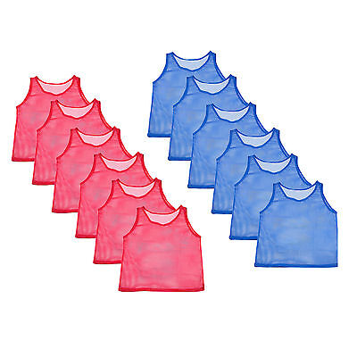 12pc YOUTH Scrimmage Practice Team Jerseys Sports Pinnies Basketball Soccer Vest