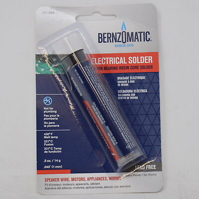 Bernzomatic 50 Rosin Core Solder, Silver Bearing, Lead Free, .5 oz SRC050 ()