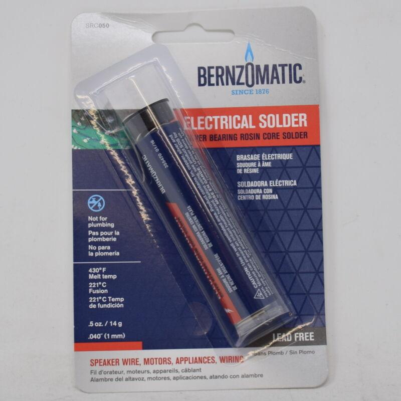 Bernzomatic 50 Rosin Core Solder, Silver Bearing, Lead Free, .5 oz SRC050