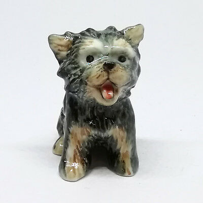 Small Dog Yorkshire Terrier Ceramic Figurine Gift for Dog Lovers Collectible