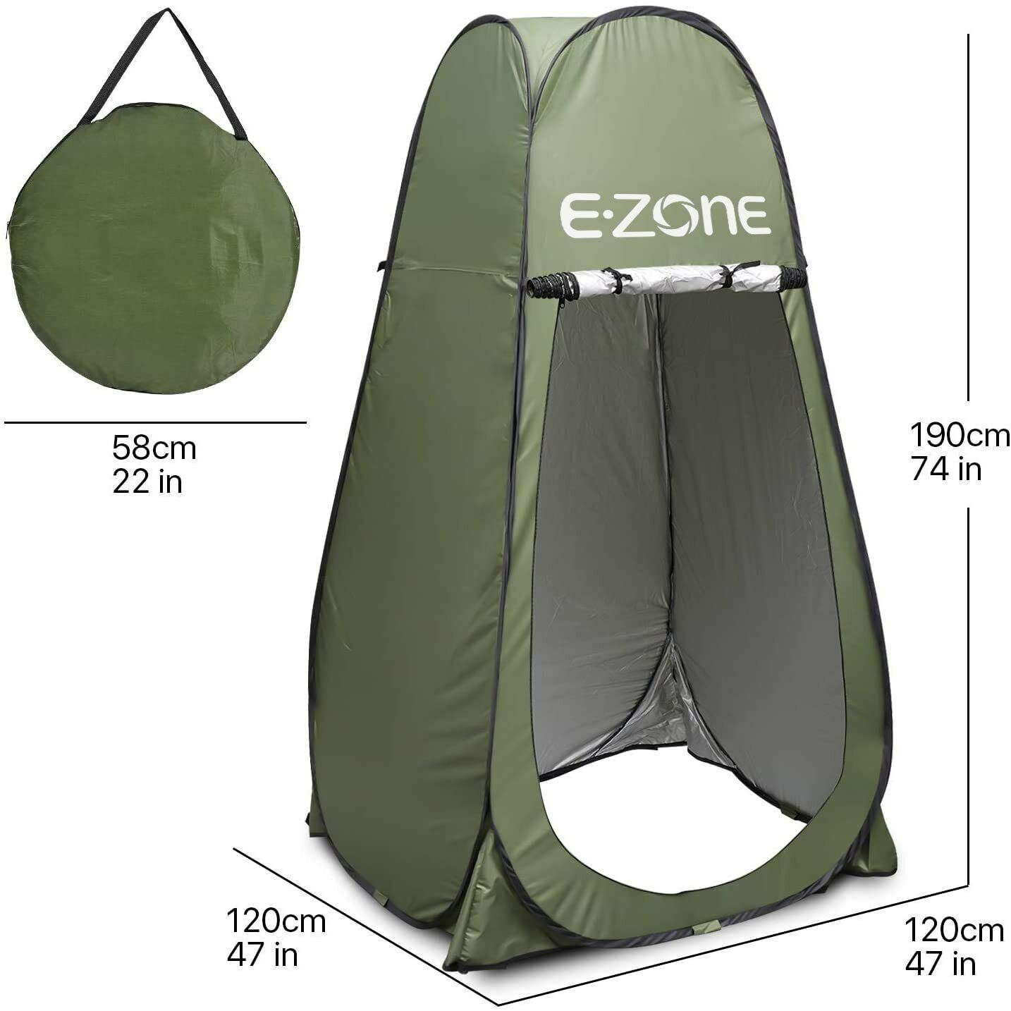 Portable Camping Shower Tent Foldable Changing Room Privacy Toilet Bath Shelter Camping & Hiking