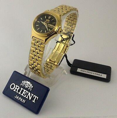 Reloj Orient   Gold  Tone Automatic Watch  Lady  FNQ1S001B   W/  ORIENT BOX