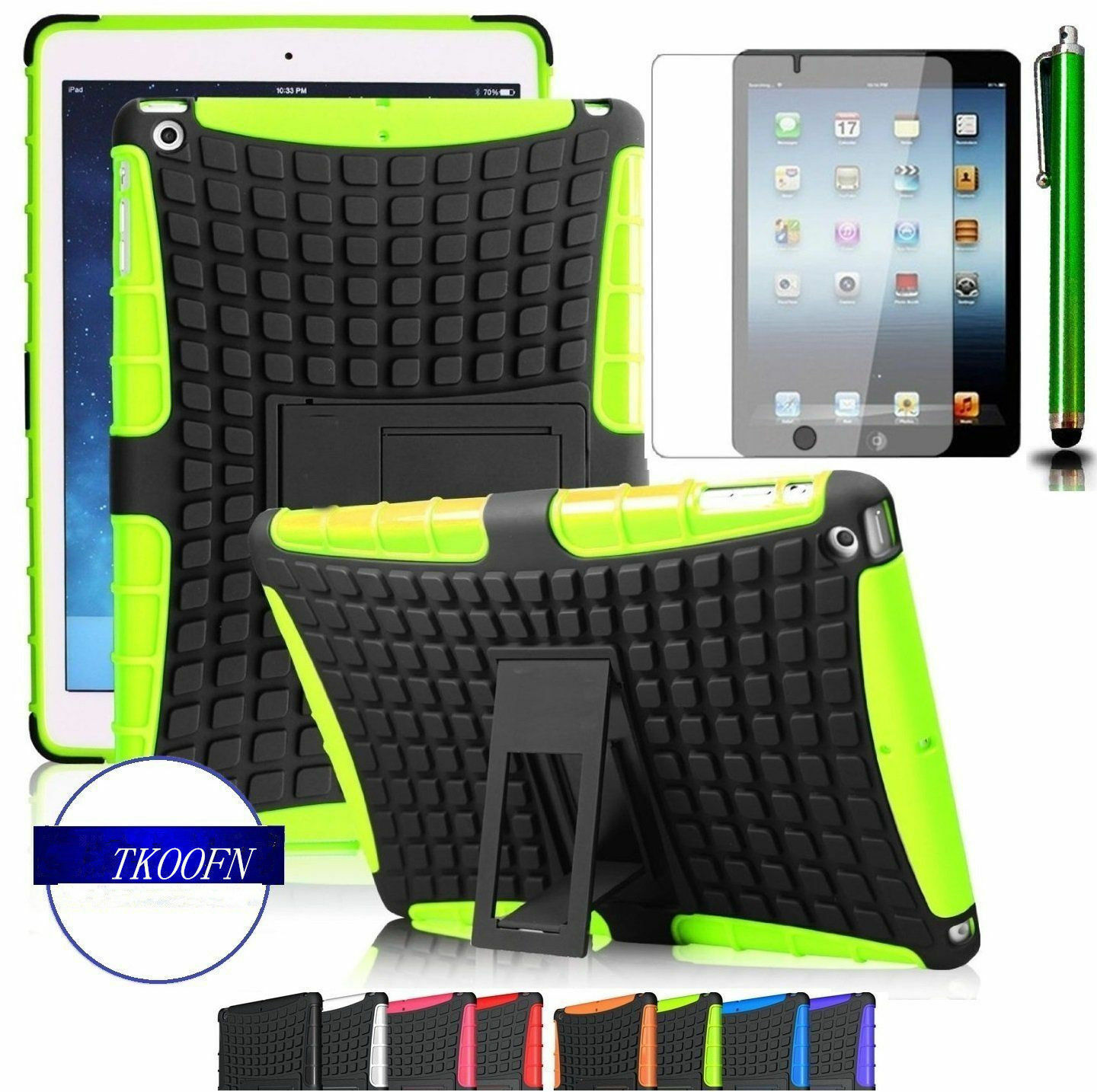 Tough Shockproof Case Cover plus screen protector for Apple Ipad & mini models
