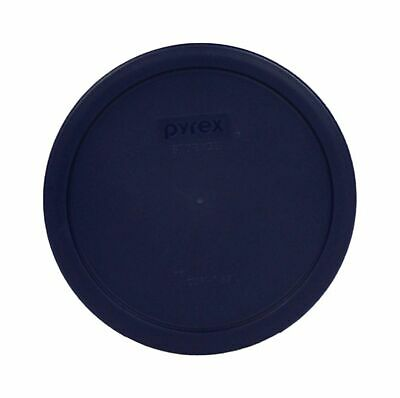 Pyrex 325 Clear Bottom Mixing Bowl Storage Cover Round Lid 2.5 qt Dark BLUE Clear Round Bowl