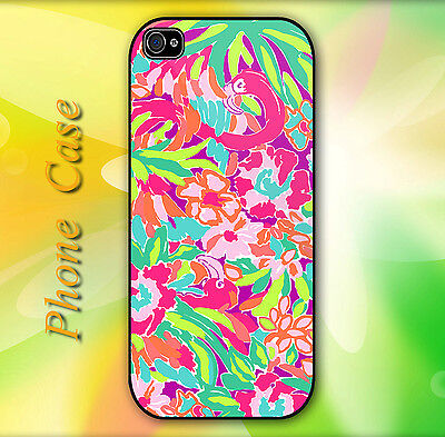 Lilly Pulitzer Colorful Pattern Hard Case for iPhone & Samsung ()