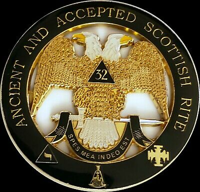 32 32nd Degree Masonic Car Emblem Scottish Rite