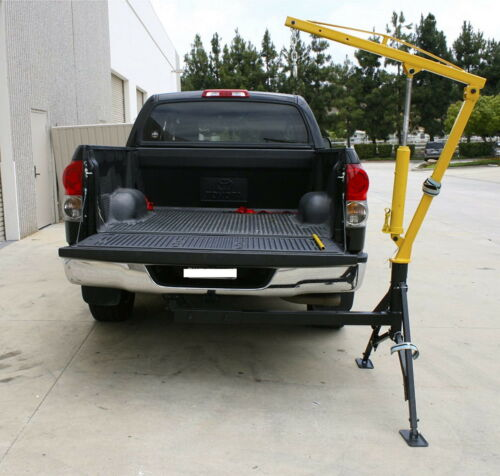 Swivle 360 Receiver Hitch Mounted Crane 1000 Lbs Capacity Portable Steel Mount