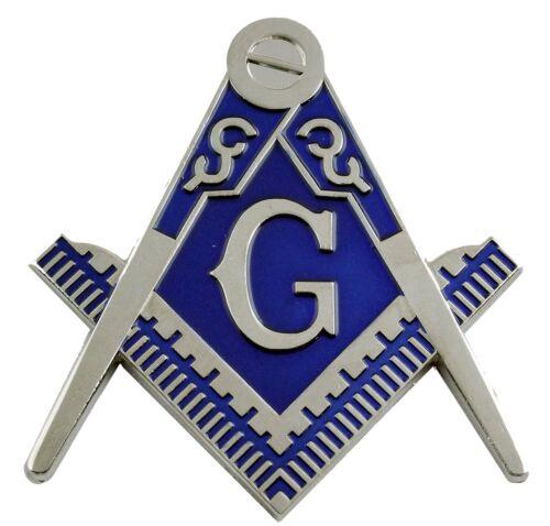 Chrome Silver Master Mason Auto Cut Out Car Emblem for Blue Lodge Freemasonry
