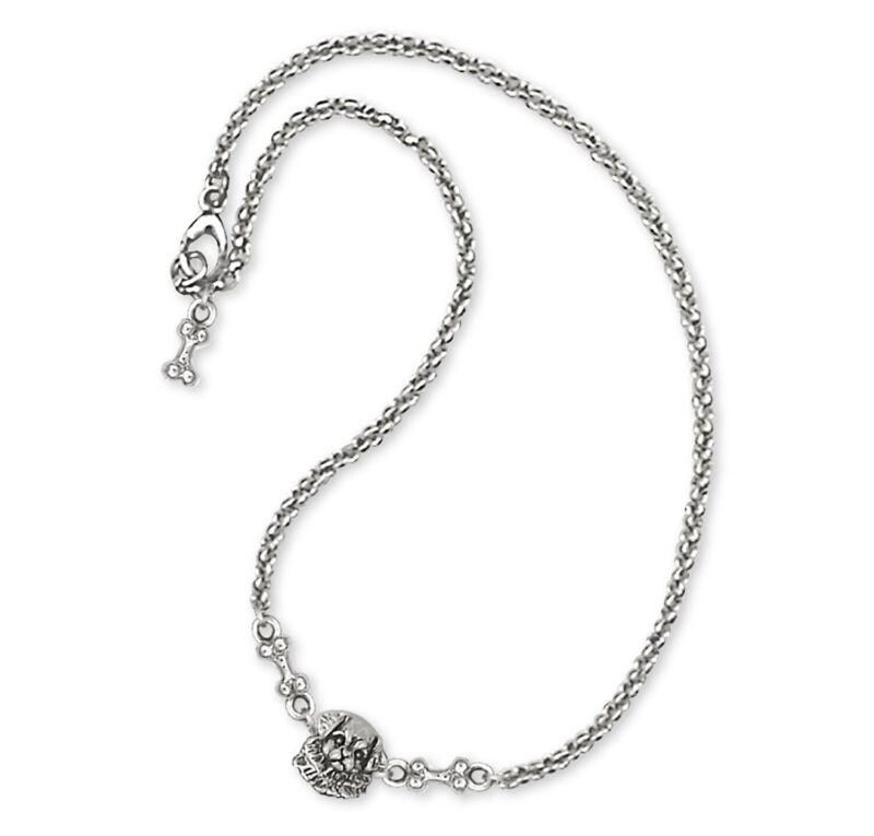 Tibetan Spaniel Ankle Bracelet Handmade Sterling Silver Dog Jewelry TS2-A