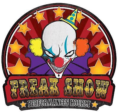 Halloween clown sign prop FREAK SHOW Sign Metal. Twisted Circus Carnival](Freak Show Sign)