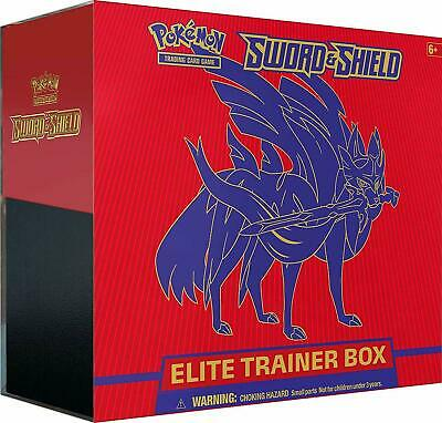 POKEMON TCG SWORD AND SHIELD ELITE TRAINER BOX ZACIAN