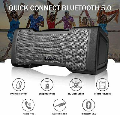 Portable Wireless Bluetooth Outdoor Speaker Best Bass Stereo Crystal Clear Sound