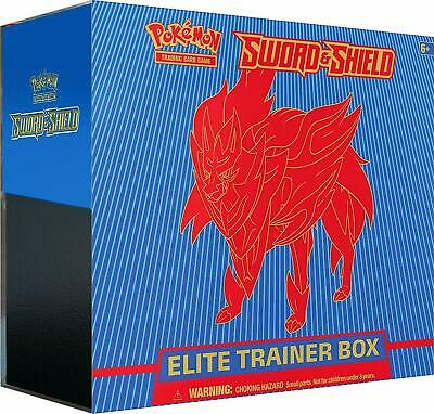 POKEMON TCG SWORD AND SHIELD ELITE TRAINER BOX ZAMAZENTA