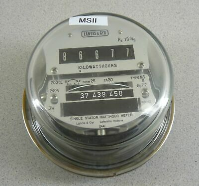 Landis Gyr Electric Watthour Meter Msii 200a 240v Cl200 4 Lug Glass Dome