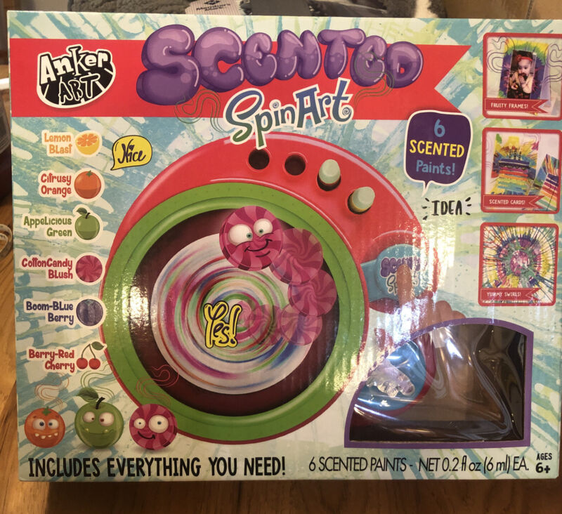 Kids Arts & Craft Scented Spin Art Paint By Anker Art 6+ Gift
