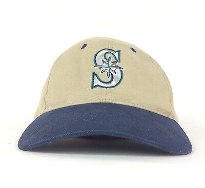 Seattle Mariners Embroidered Logo Baseball (MLB Seattle Mariners US Bank Embroidered Logo Baseball Cap Hat Adj Adult Size )