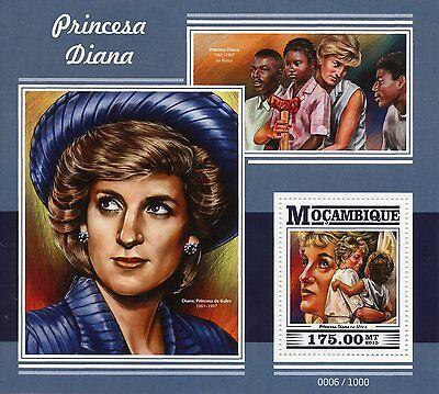 Mozambique 2015 MNH Princess Diana 1v S/S Royalty