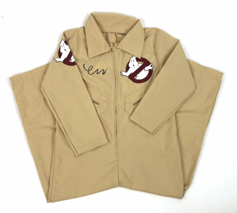Finn Wolfhard Autograph Ghostbusters Suit Who you gonna call? Signed JSA COA