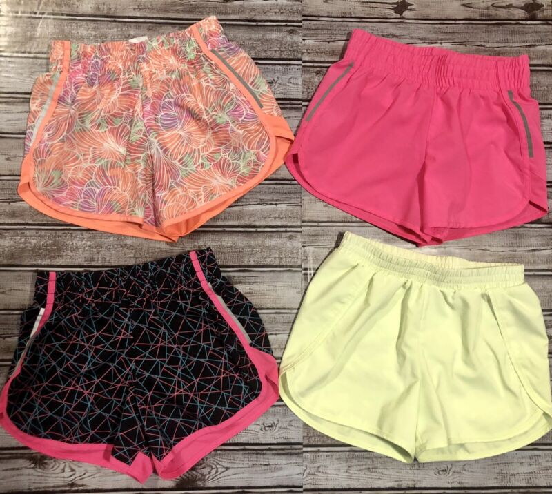 Lot of 4 Girls Athletic Lined Shorts Size L 10/12