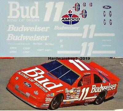 NASCAR DECAL #11 BUDWEISER 1992 FORD THUNDERBIRD BILL ELLIOTT - 1/24