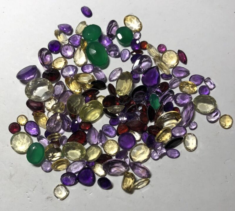 Natural Gemstones from Gold Scrap Recovery, 157.5 Carats