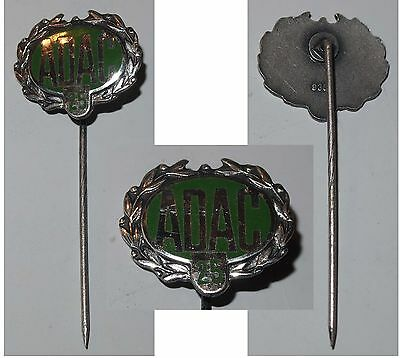 Emaillierte Anstecknadel Ehrennadel ADAC 25 / Silber 935